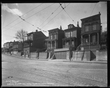 Street Improvement Photographs -- Box 36, Folder 21 (Glenway Avenue) -- negative, 1938-02-21