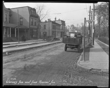 Street Improvement Photographs -- Box 36, Folder 22 (Glenway Avenue) -- negative, 1926-11-17