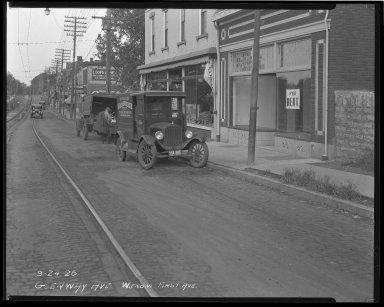Street Improvement Photographs -- Box 36, Folder 22 (Glenway Avenue) -- negative, 1926-09-24
