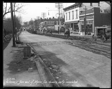 Street Improvement Photographs -- Box 36, Folder 22 (Glenway Avenue) -- negative, 1926-11-17