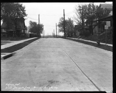 Street Improvement Photographs -- Box 36, Folder 26 (Grand Avenue) -- negative, 1931-04-02