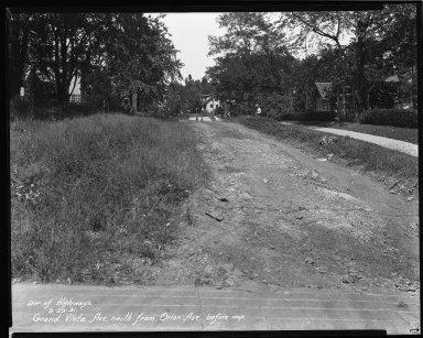 Street Improvement Photographs -- Box 36, Folder 28 (Grand Vista Avenue) -- negative, 1931-09-29