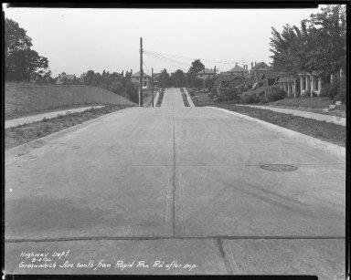 Street Improvement Photographs -- Box 36, Folder 32 (Greenwich Avenue) -- negative, 1930-08-04