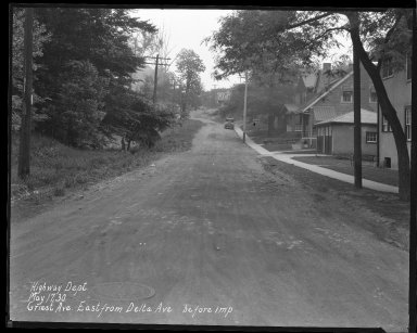 Street Improvement Photographs -- Box 36, Folder 33 (Griest Avenue) -- negative, 1930-05-17