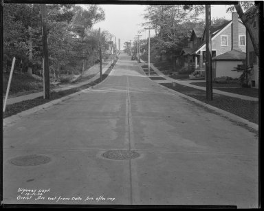 Street Improvement Photographs -- Box 36, Folder 33 (Griest Avenue) -- negative, 1930-10-17