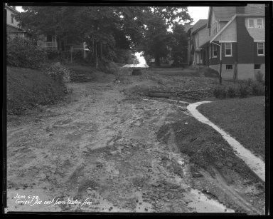 Street Improvement Photographs -- Box 36, Folder 33 (Griest Avenue) -- negative, 1928-06-06