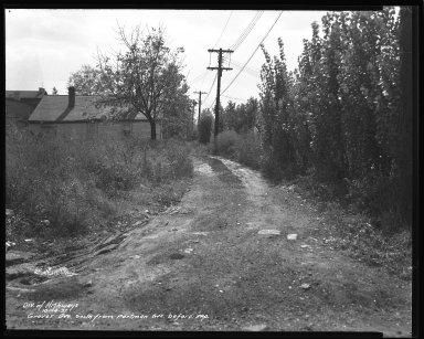 Street Improvement Photographs -- Box 36, Folder 34 (Grover Avenue) -- negative, 1937-10-14