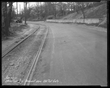 Street Improvement Photographs -- Box 36, Folder 36 (Hamilton Avenue) -- negative, 1927-04-26