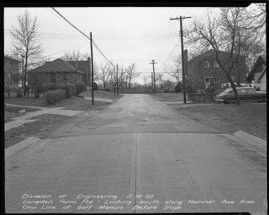 Street Improvement Photographs -- Box 36, Folder 38 (Hammel Avenue) -- negative, 1952-11-14