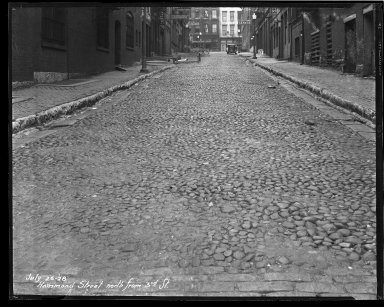 Street Improvement Photographs -- Box 36, Folder 39 (Hammond Street) -- negative, 1928-07-26