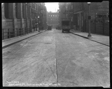 Street Improvement Photographs -- Box 36, Folder 39 (Hammond Street) -- negative, 1929-01-07