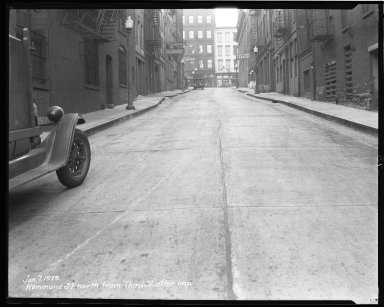 Street Improvement Photographs -- Box 36, Folder 39 (Hammond Street) -- negative, 1929-01-07