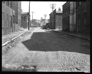 Street Improvement Photographs -- Box 36, Folder 41 (Hannibal Street) -- negative, 1927-06-23