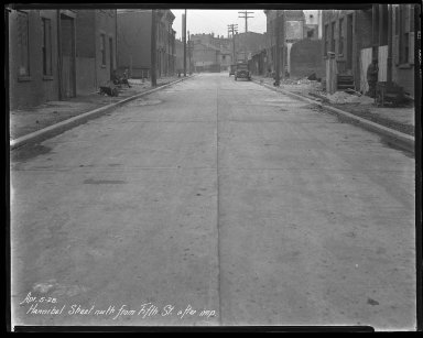 Street Improvement Photographs -- Box 36, Folder 41 (Hannibal Street) -- negative, 1928-04-05