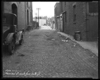 Street Improvement Photographs -- Box 36, Folder 41 (Hannibal Street) -- negative, 1927-06-23