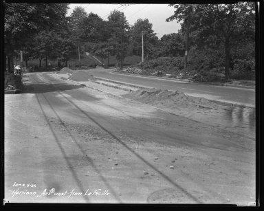 Street Improvement Photographs -- Box 36, Folder 49 (Harrison Avenue) -- negative, 1927-06-05