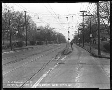 Street Improvement Photographs -- Box 36, Folder 50 (Harrison Avenue) -- negative, 1947-12-12