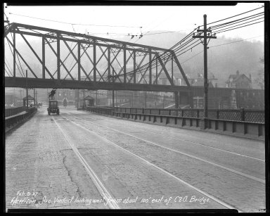 Street Improvement Photographs -- Box 36, Folder 52 (Harrison Avenue Viaduct) -- negative, 1927-02-09