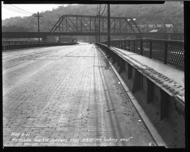 Street Improvement Photographs -- Box 36, Folder 52 (Harrison Avenue Viaduct) -- negative, 1927-05-09