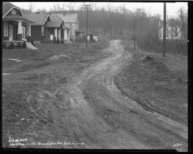 Street Improvement Photographs -- Box 36, Folder 55 (Hart Avenue) -- negative, 1929-02-18