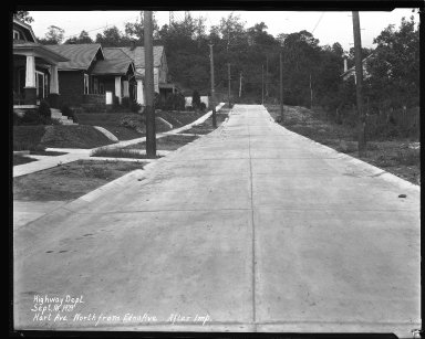 Street Improvement Photographs -- Box 36, Folder 55 (Hart Avenue) -- negative, 1941-06-25