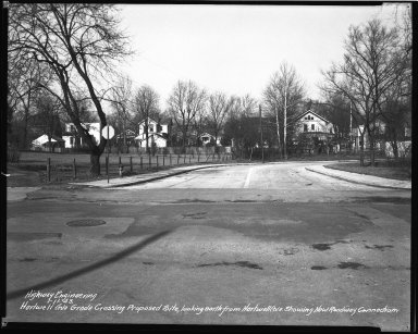 Street Improvement Photographs -- Box 36, Folder 57 (Hartwell Avenue) -- negative, 1943-01-11