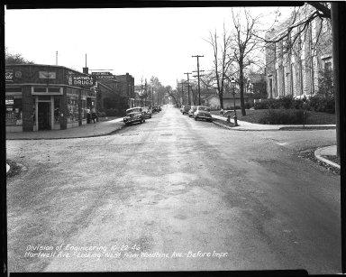 Street Improvement Photographs -- Box 36, Folder 57 (Hartwell Avenue) -- negative, 1946-10-22