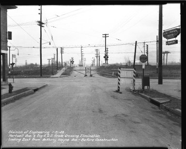 Street Improvement Photographs -- Box 36, Folder 58 (Hartwell Avenue) -- negative, 1948-01-09