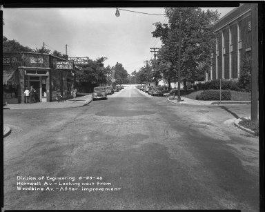 Street Improvement Photographs -- Box 36, Folder 59 (Hartwell Avenue) -- negative, 1948-06-29