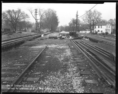 Street Improvement Photographs -- Box 36, Folder 59 (Hartwell Avenue) -- negative, 1947-12-12