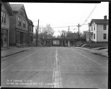 Street Improvement Photographs -- Box 36, Folder 59 (Hartwell Avenue) -- negative, 1947-12-12