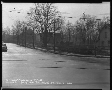 Street Improvement Photographs -- Box 36, Folder 60 (Harvey Avenue) -- negative, 1948-12-08