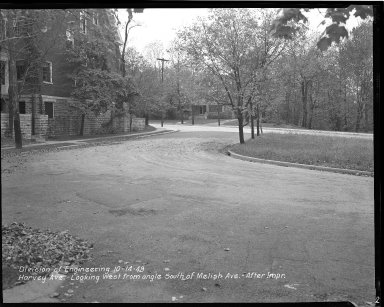 Street Improvement Photographs -- Box 36, Folder 60 (Harvey Avenue) -- negative, 1949-10-14
