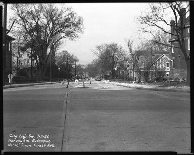 Street Improvement Photographs -- Box 36, Folder 61 (Harvey Avenue Extension) -- negative, 1944-01-11