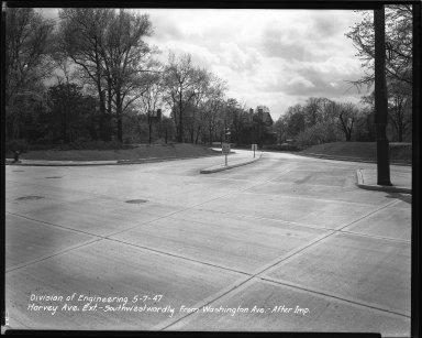 Street Improvement Photographs -- Box 36, Folder 62 (Harvey Avenue Extension) -- negative, 1947-05-07