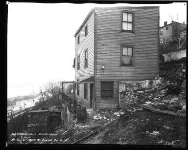Street Improvement Photographs -- Box 36, Folder 63 (Hatch Street) -- negative, 1940-03-18