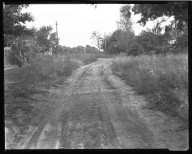 Street Improvement Photographs -- Box 37, Folder 03 (Hedge Avenue) -- negative, 1929