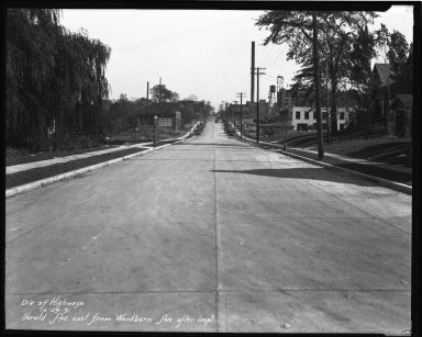 Street Improvement Photographs -- Box 37, Folder 04 (Herald Avenue) -- negative, 1931-10-29