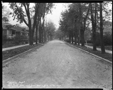 Street Improvement Photographs -- Box 37, Folder 05 (Hereford Avenue) -- negative, 1930-10-23