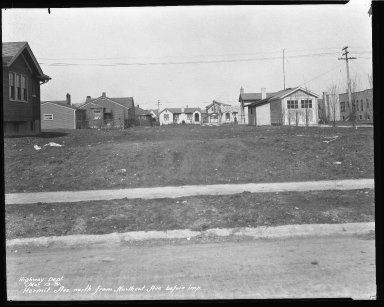 Street Improvement Photographs -- Box 37, Folder 06 (Hermit Avenue) -- negative, 1931-03-13