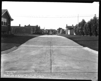 Street Improvement Photographs -- Box 37, Folder 06 (Hermit Avenue) -- negative, 1931-06-17