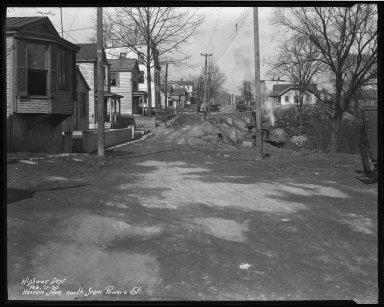 Street Improvement Photographs -- Box 37, Folder 07 (Herron Avenue) -- negative, 1930-02-17