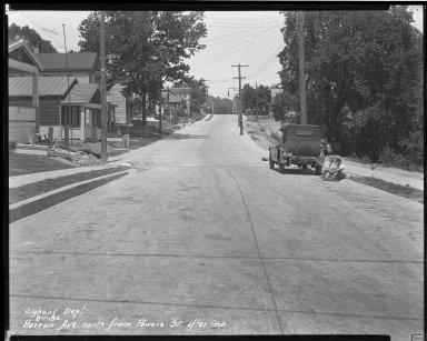 Street Improvement Photographs -- Box 37, Folder 07 (Herron Avenue) -- negative, 1930-08-01