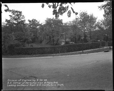 Street Improvement Photographs -- Box 37, Folder 08 (Herschel Avenue) -- negative, 1949-09-26