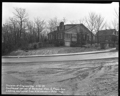 Street Improvement Photographs -- Box 37, Folder 08 (Herschel Avenue) -- negative, 1951-01-16
