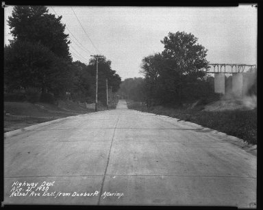 Street Improvement Photographs -- Box 37, Folder 09 (Hetzel Street) -- negative, 1930-08-21