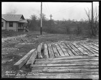 Street Improvement Photographs -- Box 37, Folder 10 (Heyward Avenue) -- negative, 1927-03-09