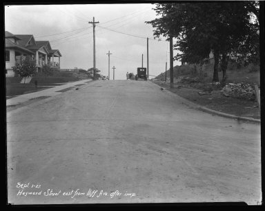 Street Improvement Photographs -- Box 37, Folder 10 (Heyward Avenue) -- negative, 1927-09-01