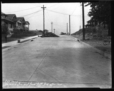 Street Improvement Photographs -- Box 37, Folder 10 (Heyward Avenue) -- negative, 1927-07-29