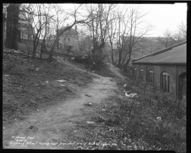 Street Improvement Photographs -- Box 37, Folder 11 (Hickory Street) -- negative, 1931-04-18